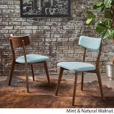chazz mid century fabric dining chair set of 2 by christopher knight home today overstock 17156869
