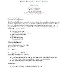 Resume Examples Sales Associate Retail Best Of Resume Sample Sales Associate Retail Store New Retail Sales