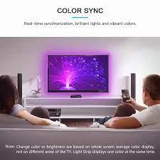 Gledopto RGB TV arka plan şerit ışık HDMI SYNC kutusu kiti renk değişimi  kısılabilir TV arkaplan