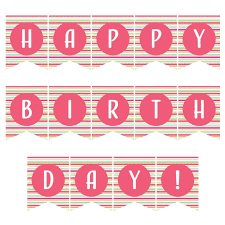 Birthday Banner Printable Free Download Ideas For The Home