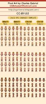 Pixel Character Template 24x32 Rpg Character Template Opengameart Org
