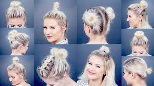 Short Hair Style Photos 10 easy different bun hairstyles for short hair milabu youtube 2960 by stevesalt.us