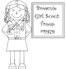 Girl Scout Coloring Pages For Brownies Coloring Home