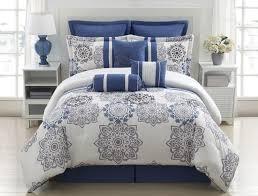 stunning modern blue and grey bedding sets lostcoastshuttle flowers comforter king light set kids powder twin