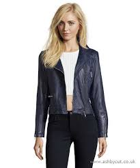 doma leather heavy leather jacket with shoulder matellasse and stretch texture on back navy blue sb4sh8 women s coats outerwea
