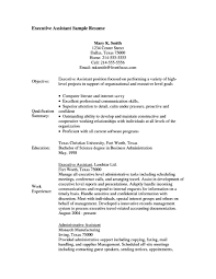 Resume Objective Administrative Assistant Good Print Executive Job