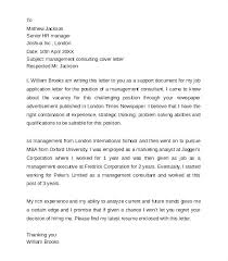 It Consultant Cover Letters Cover Letter Business Consultant Consulting Cover Letter Sample