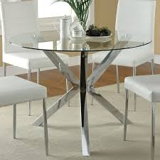 glass top dining table with metal base miramont round dining creative of round glass dining table