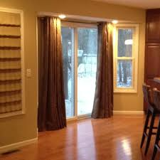 curtains on a sliding glass door