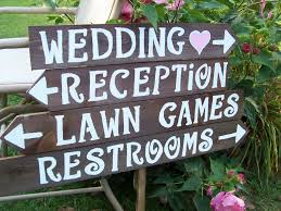 4 rustic wedding signs wood signs parking sign custom signs personalized signs wedding decorations reception sign ceremony sign