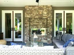 indoor outdoor wood burning fireplace surprising two sided gettheebehind me home ideas 16