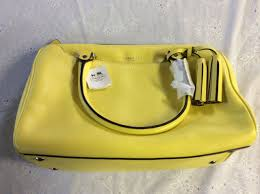 COACH LEGACY Leather Haley Satchel Handbag Lemon (CCHY1)