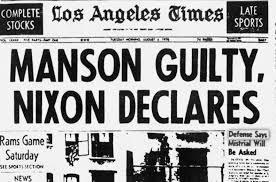 Image result for manson guilty nixon declares