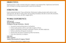 Resume Example Objective 9 10 Example Of Objectives On A Resume Juliasrestaurantnj Com
