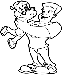 Small Picture Fathers Day Coloring Pages From Daughter Father And Daughter