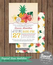 Hawaiian Pool Party Invitations Hawaiian Themed Birthday Cards Retro Vintage Hawaiian Birthday Retro