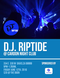 event flyer templates examples lucidpress dj club flyer template