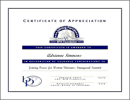 Military Certificate Of Appreciation Template Beauteous Blank Certificate Of Appreciation Template Goloveco