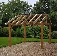 wooden garden shelter frame gazebo hot tub car port canopy kit 3m x
