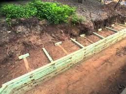 wood retaining wall retaining wall