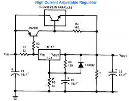 variable power supply circuit using ic lm317 electronic circuit lm 317 power supply circuit 3 amp