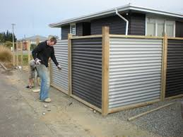Beautiful Sheet Metal Fence Corrugated Panels Fences Throughout Decorating Ideas