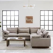 L shape furniture Bassett Harmony Downfilled Lshaped Sectional West Elm Harmony Downfilled Lshaped Sectional West Elm