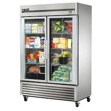 true ts 49g hc fgd01 54 two section reach in refrigerator 2 glass door 115v