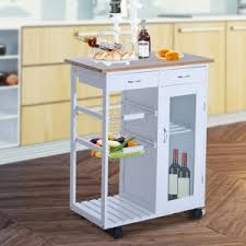 Kitchen island for sale Long Rolling Kitchen Trolley Serving Cart With Glass Door Cabinet Hayneedle Kitchen Islands Carts On Sale Our Best Deals Discounts Hayneedle