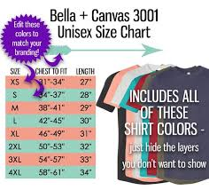 Bella T Shirt Size Chart Bella Canvas 3001 Size Chart T Shirt Mockup Flat Lay Adult Size Guide Usa Inches Chart Table Jpeg Psd Editable Download T Shirt Tee Mock Up