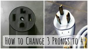 changing a 3 prong to 4 prong dryer plug and cord dengarden