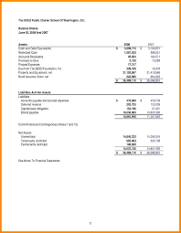 Financial Summary Template Simple Simple Financial Statement Template