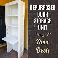 repurposed door desk this is the second step of turning two old doors into a