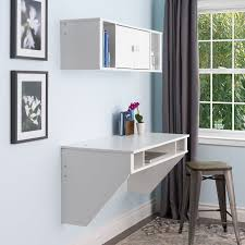Prepac SOHO White Floating Desk - Free Shipping Today - Overstock.com -  14794492