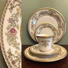 lenox china castle garden 5 pc place setting luxury dinnerware wedding gift replacement lenox holiday dinnerware