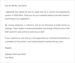 Best Ideas Of Follow Up Thank You Letter Nursing Interview Easy