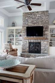 home of the month lake house reveal simplestylings com stone fireplace