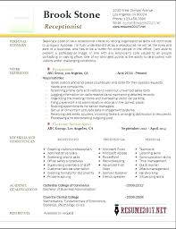 Resume Examples For Receptionist Sample Medical Receptionist Resume Medical Receptionist Resume 87