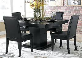 tall dining room tables black dining table w pedestal base black metal dining room tables and