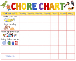 6 Year Old Chore Chart Ideas Behaviour Charts For 6 Year Olds 5 Chore Chart For