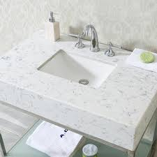ace 36 inch single sink bathroom vanity set quartz countertop