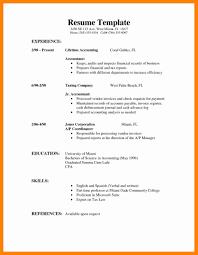 Simple Sample Resume 6 Sample Simple Resume Letter Signature