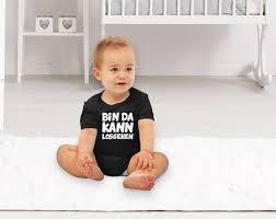 Kurzarm Baby Body Bin Da Kann Losgehen Spruch Lustig Bio Baumwolle