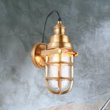 industrial cage lighting. Industrial Brass Cage Wall Light Lighting T