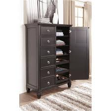B671-48 Ashley Furniture Greensburg - Black Bedroom Door Chest