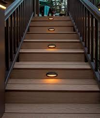 deck lighting. TimberTech Deck Riser Lights - View 2 Lighting