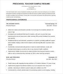 Kindergarten Teacher Resume Kindergarten Teacher Resume Unique 55 Unique Teacher Resume Template