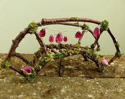 furniture fairy. Pink Fairy Bridge - Garden, House, Accessories, Miniatures, Dollhouse Furniture