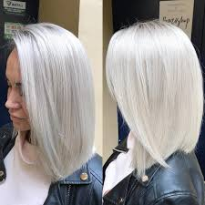 Bob Grey Hair Colorsgray Hairblonde Hairbleach