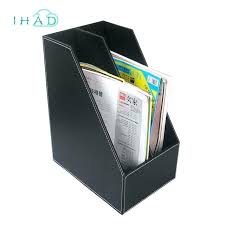 hanging file storage box leather file boxes business office file box desktop storage box office tools